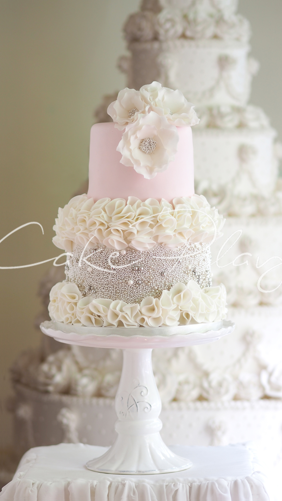 Wedding Cake With Candy On It